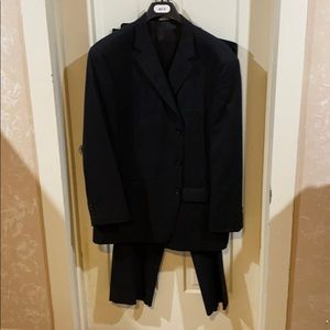 Black Pin-striped Suit in excellent condition